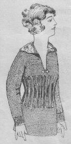 Ladies outing sweater from 1918