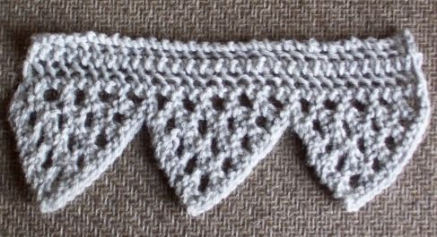 Very pretty vandyke border from Corelia Mee's Exercises in Knitting