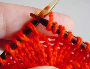 Working multiple yarn overs. Diagram 1