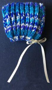 Brioche knit baby mittens