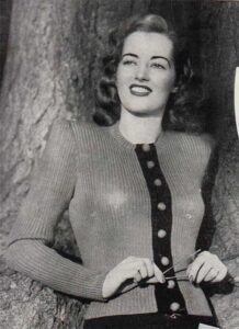Evergreen vintage cardigan with rib design