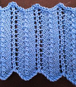 Lace knit columns