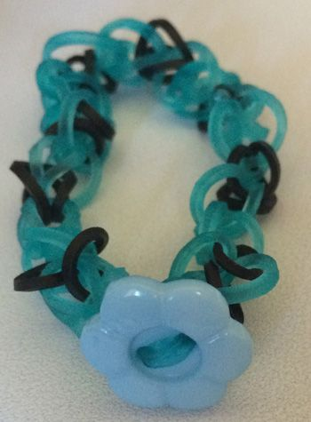 How to add a button closure to a rainbow loom bracelet 1