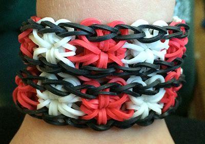 Rainbow loom starburst bracelets