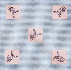 Bluebell cloth from the Book of Good Needlework Number Four