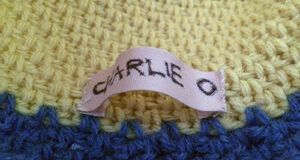 How to sew in a name label part 2
