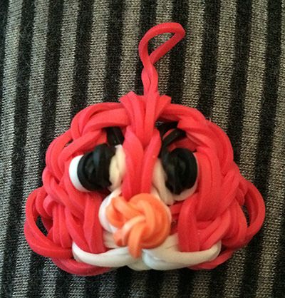 Rainbow loom Red Angry Bird
