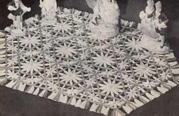Dresser doily made on the Lily Speed-O-Weave loom