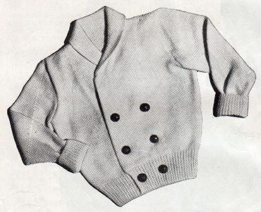 Button-me-up double breasted cardigan for toddlers. Free knitting pattern.