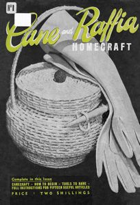 Hand made cane basket