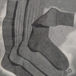 Man's Plain Socks with French Heel and Flat Toe
