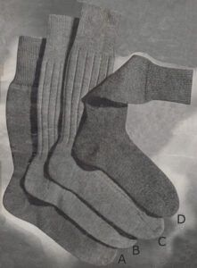 Men's socks from the 1940's