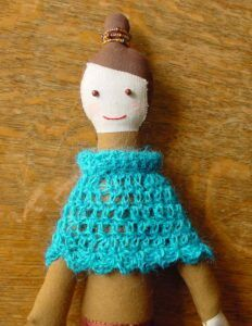 Una-na Doll with Poncho