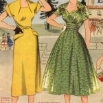 Yellow and Green Vintage Dresses