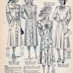 Four Vintage Dresses from 1949