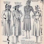 Vintage Dresses with Gathering, Ruching and Ruffles