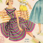 Vintage Dress with Stripes