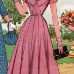 Pink Dress with Wide Neckline and Ruching