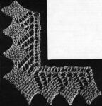 Narrow Greek Lace with Mitred Corner
