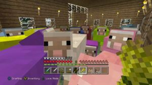 All sixteen colours of sheep in Minecraft