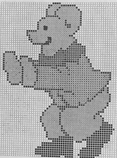 Teddy Bear Knitting Chart Thumbnail