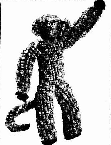 Maurice the Monkey, with free knitting pattern