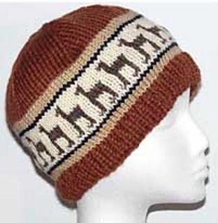 Llama cap knitting pattern