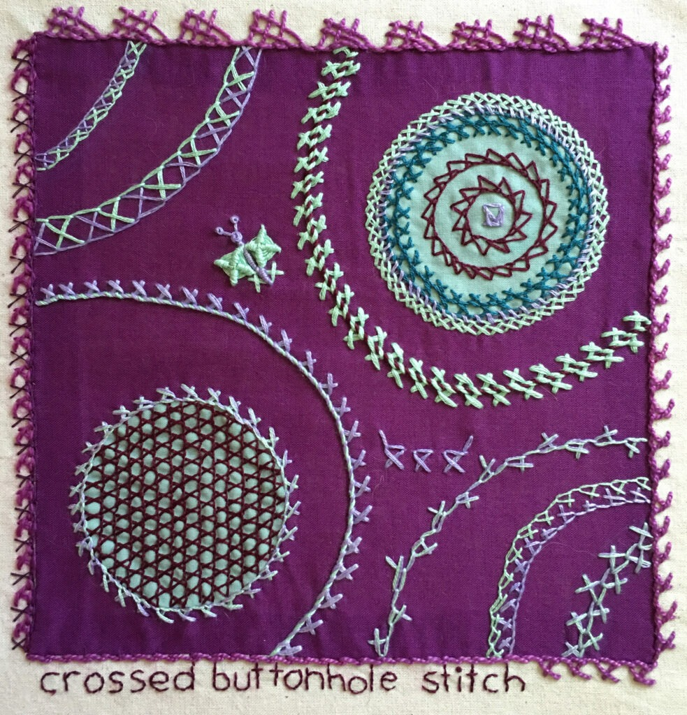 Crossed Buttonhole Stitch Sampler