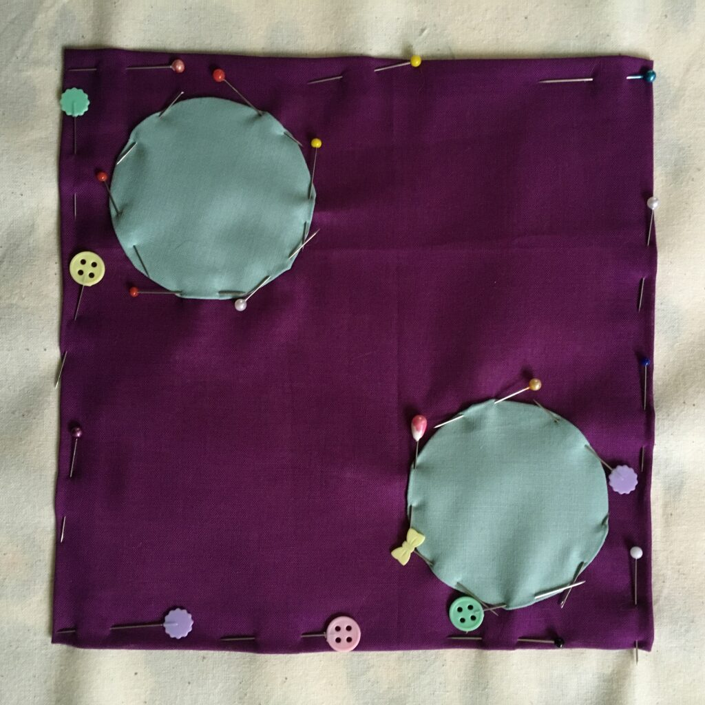 Purple and Green Appliqué
