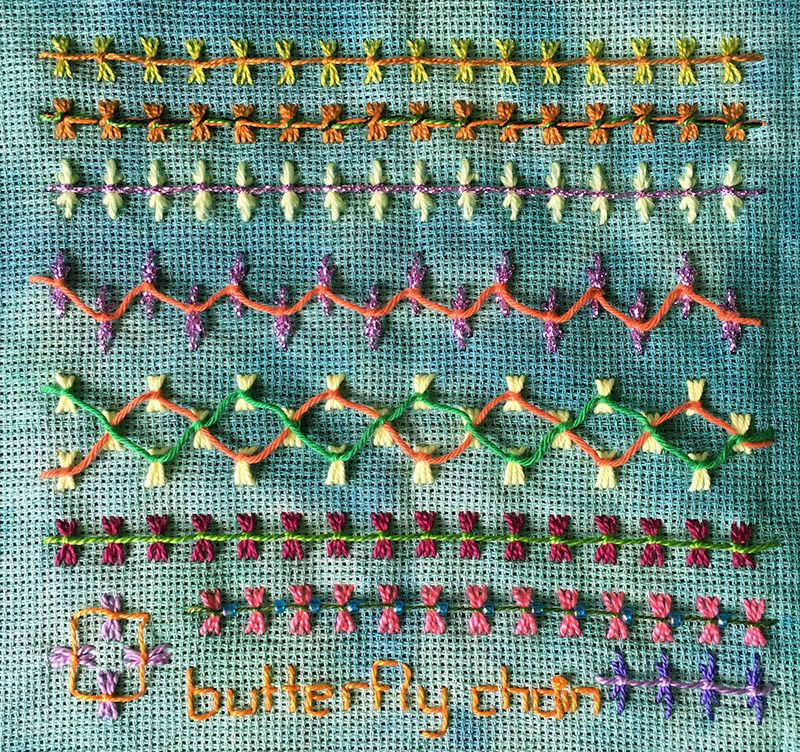 Butterfly Chain Embroidery Sampler