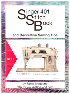 The Singer 401 stitch book - free download