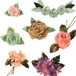 Vintage Fabric Flower Symbols
