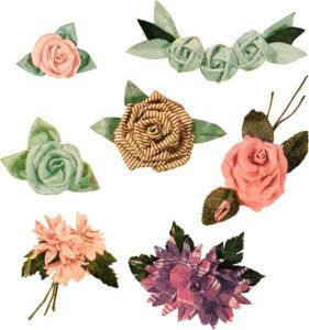 Free download of fabric flowers, a symbol set for Adobe Illustrator