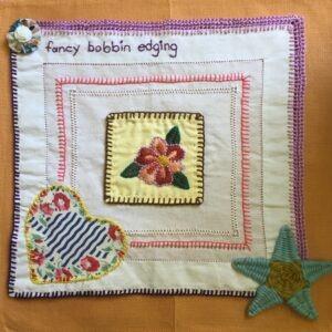 Vintage linen with fancy bobbin edging