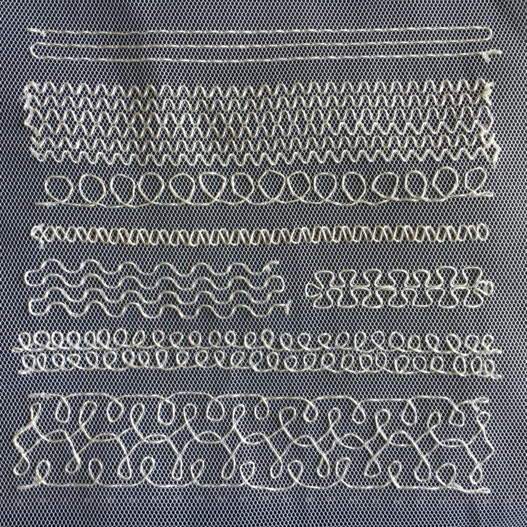 Running stitch sampler for the TAST, Take a Stitch Tuesday, challenge.