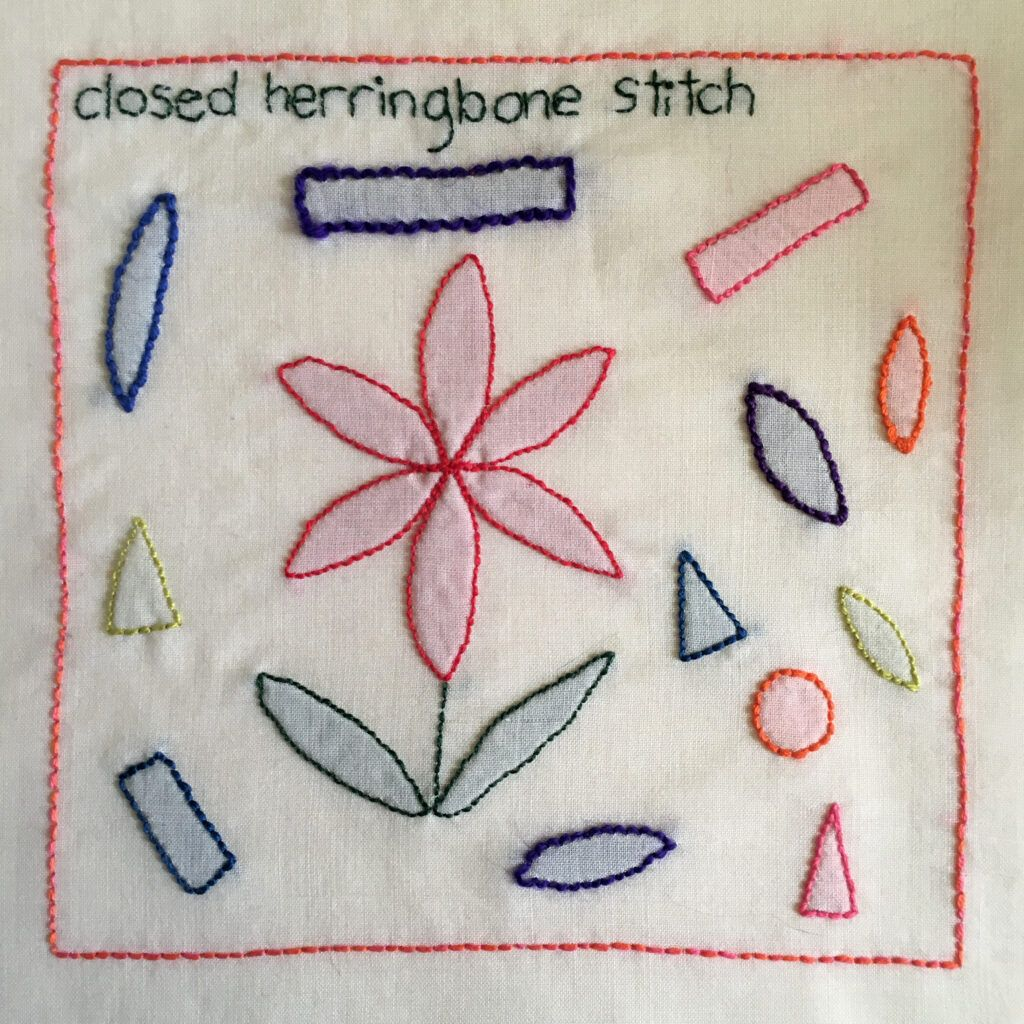 Shadow work sampler for the TAST embroidery challenge