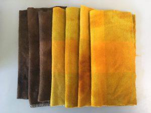 Hand dyed vintage wool blanket