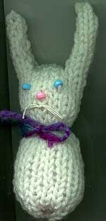 Bunny knit on the Mattel Knitting machine