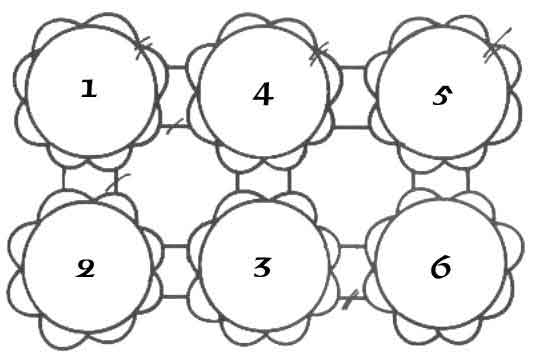 granny circle diagram for joining motifs