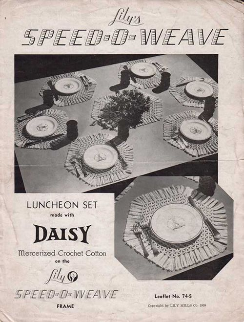 Lily Speed-O-Weave Luncheon Set