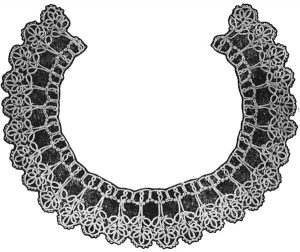 Petal Collar in Tatting from Australian Home Journal, November 1st 1951