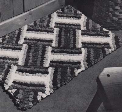 Modern cross hatch rug
