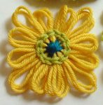 Chain Stitch Rounds on Loomed Flowers