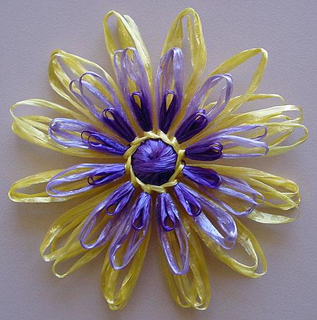 A raffia, or Swisstraw flower