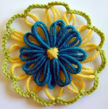 Double layer loomed flower