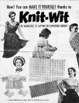 Knit-Wit Flower Loom Instructions Sheet from 1954