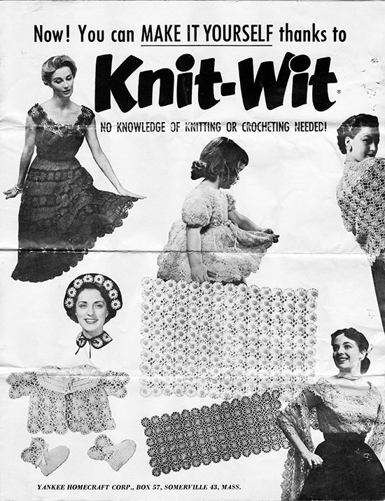 Knit-Wit Flower Loom Instructions Sheet from 1954 » Knitting-and.com