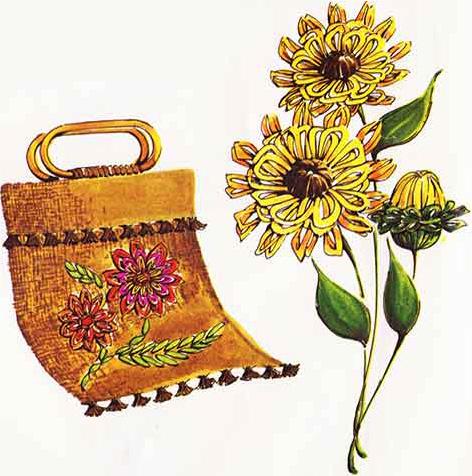 Flower loom tote bag and three dimensional flower