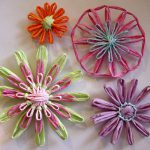 Spun Paper Loomed Flowers