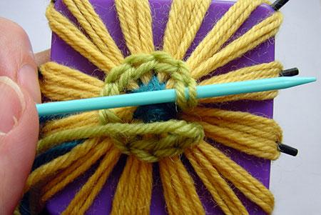 Closing the round of chain stitch